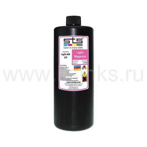 УФ - чернила STS для Agfa Jeti KM Light Magenta 1000 мл (UV LED)