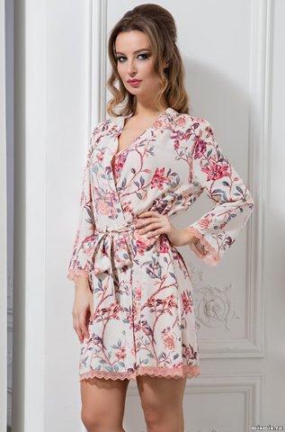 Короткий халат Mia-Mella 6403 PARADISE