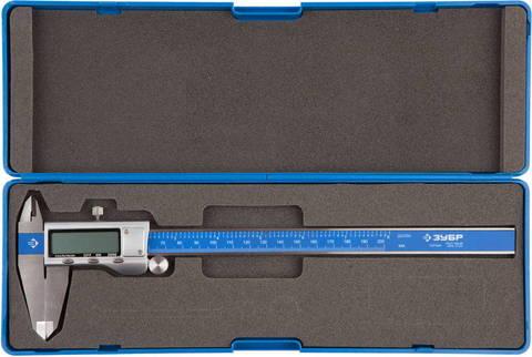 ЗУБР ЭКСПЕРТ, ШЦЦ-I-200-0,01 штангенциркуль электронный, нерж. сталь, 200мм