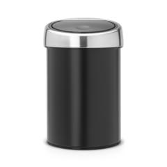 Мусорный бак Brabantia Touch Bin (3л), Черный матовый