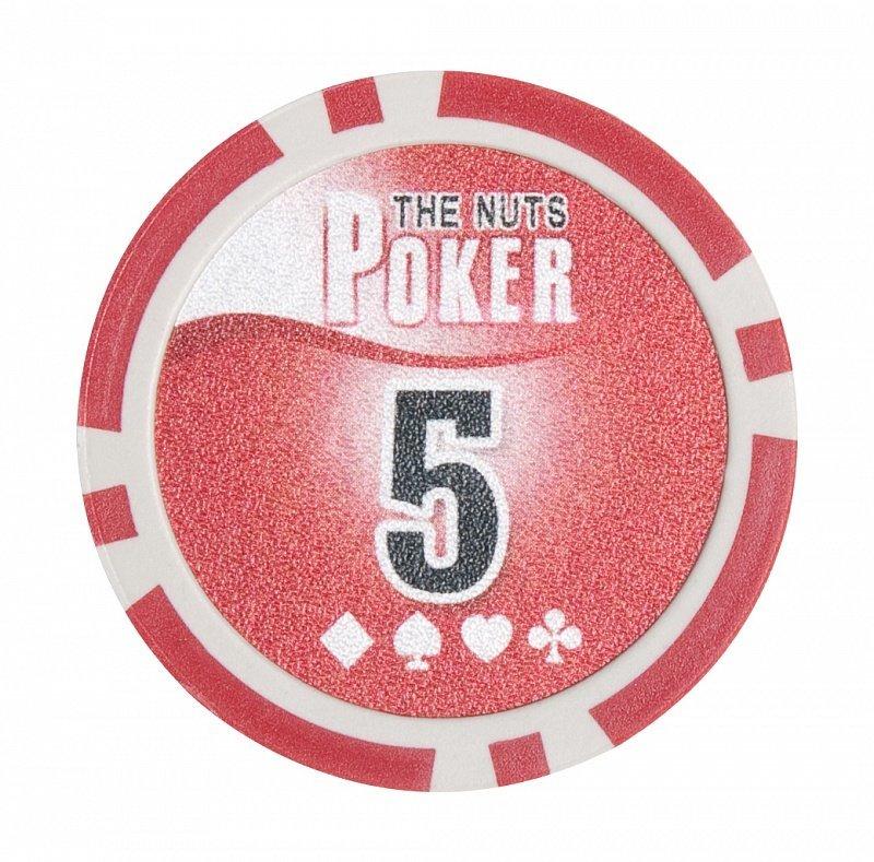Набор для покера NUTS на 500 фишек фишка номиналом 5