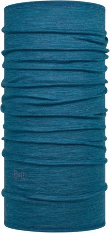 Тонкий шерстяной шарф-труба Buff Wool lightweight Solid Dusty Blue фото 1