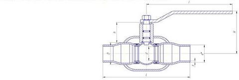 Конструкция LD КШ.Ц.П.400.025.П/П.02 Ду400 полный проход с редуктором