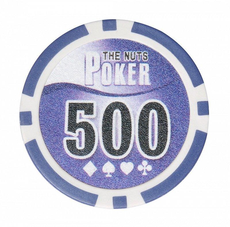 Набор для покера NUTS на 500 фишек фишка номиналом 500