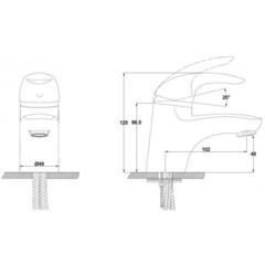 Смеситель KAISER Safira 15011 для раковины схема