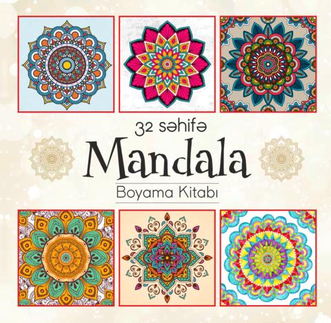 Böyüklər üçün boyama kitabı - 32 səhifə mandala