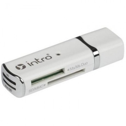 Картридер Intro R501 portable card reader, white