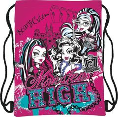 Сумка-рюкзак для обуви, розовая, Монстр Хай