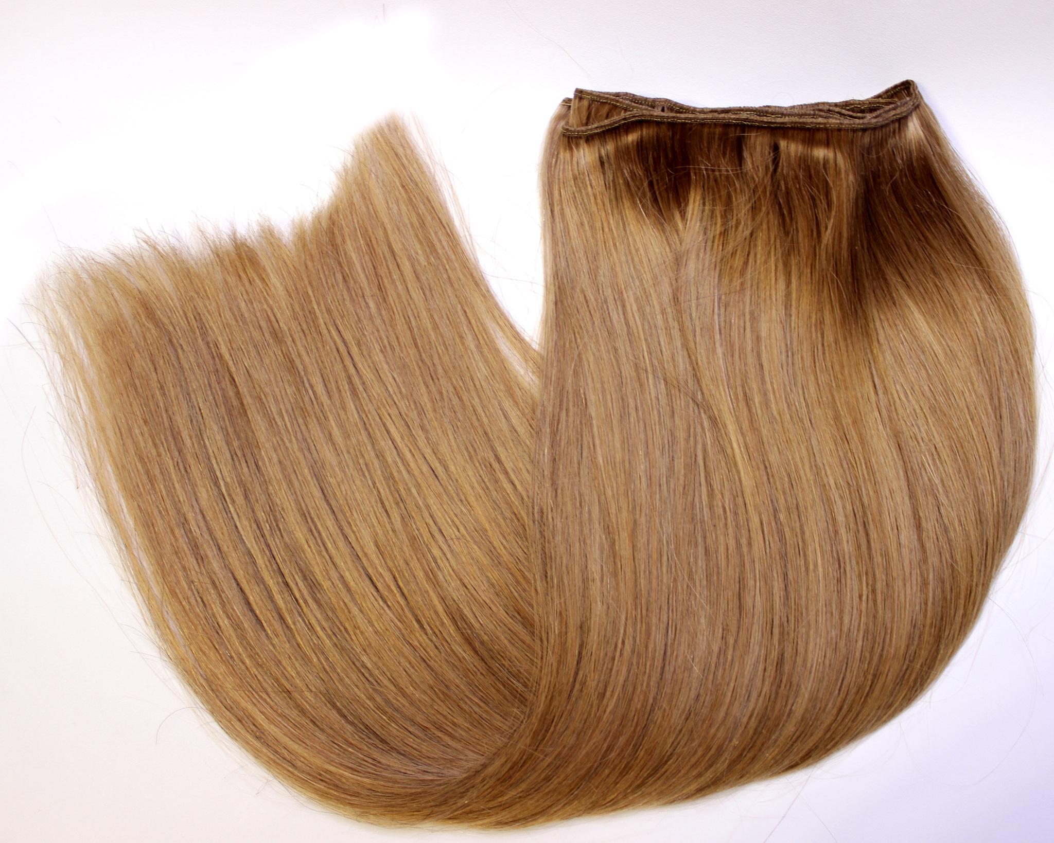 Тресс из натуральных волос длина 52 см цвет #12-светлый орех
