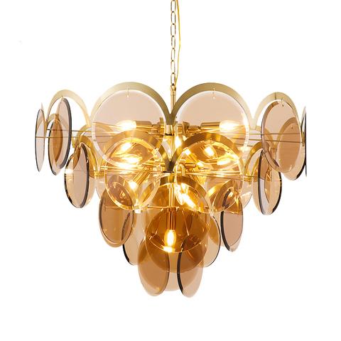 Подвесной светильник Four-tier by Vistosi (янтарный)