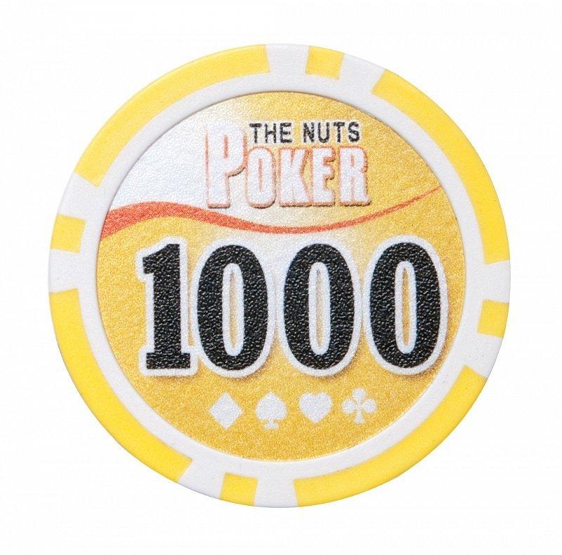 Набор для покера NUTS на 500 фишек фишка номиналом 1000