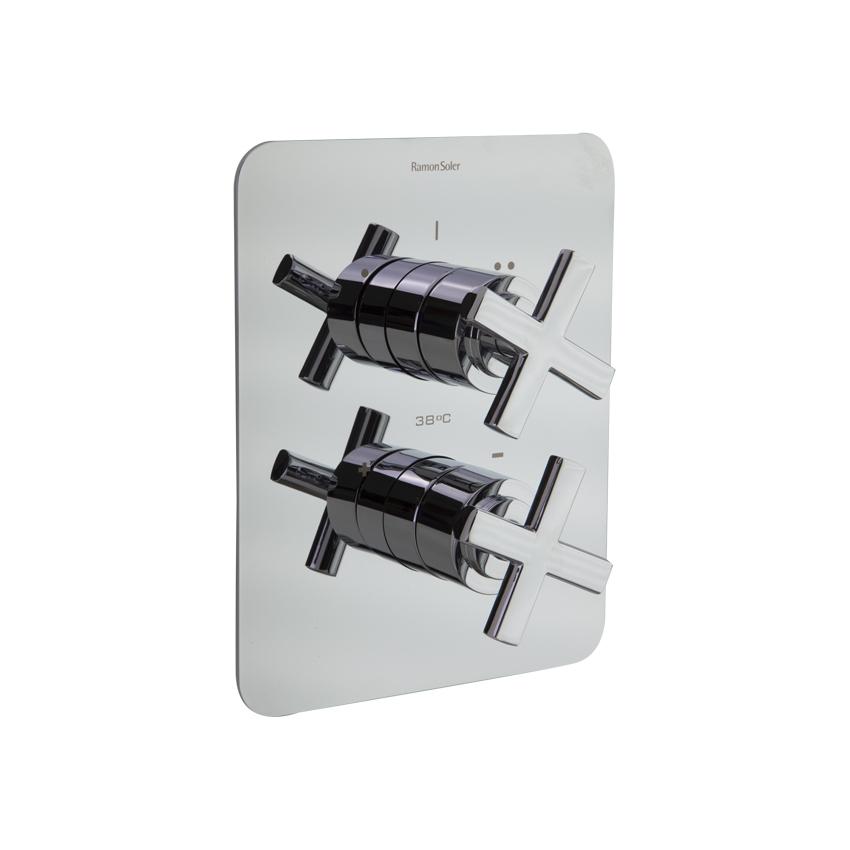 Встраиваемый термостатический смеситель для душа RS-CROSS 628712S на 2 выхода