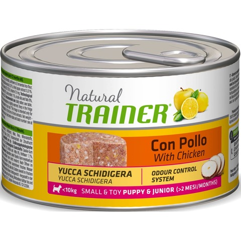 Trainer Natural Dog Small & Toy Puppy & Junior - With Chicken, 1800 г.