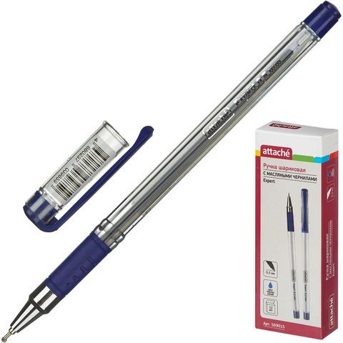 Ручка шариковая Attache Expert синяя (толщина линии 0.5 мм)