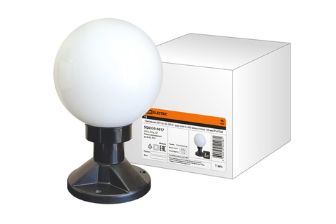 Светильник НТУ 03- 60-200-С1 шар опал d=200 мм на стойке 130 мм IP54 TDM