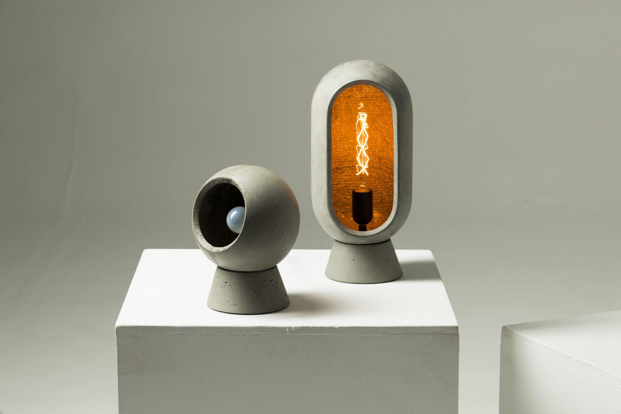 Настольный светильник из бетона LOONA - вид 5
