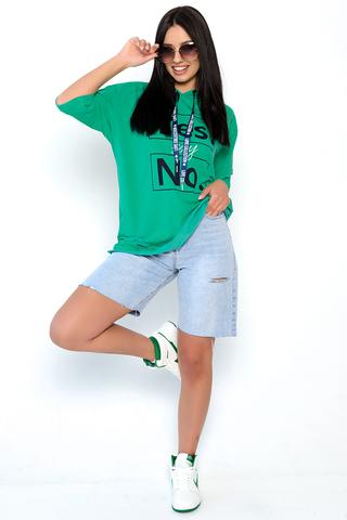 Футболка-худи 2 (бирюза). <p>Футболка-худи отличный вариант на каждый день! Уместно носить в этом сезоне с джинсами, джоггерами из эко-кожи, юбками и даже с удлиненным жакетом! Супер актуальная вещь.&nbsp;</p> <p>Один размер: 46-50</p>