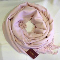 Кашемировый однотонный розовый палантин (18)