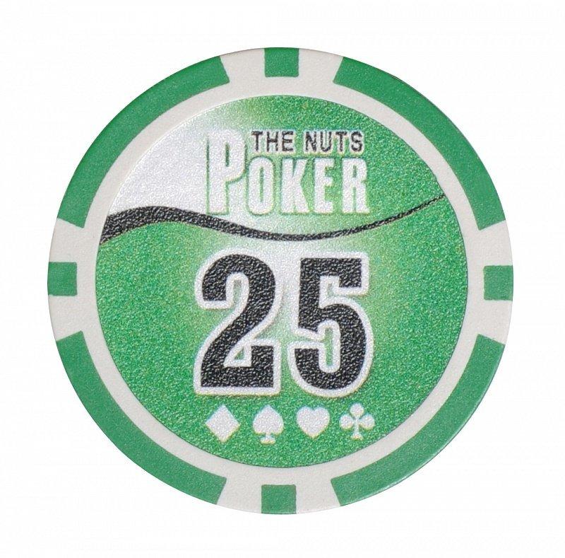 Набор для покера NUTS на 500 фишек фишка номиналом 25