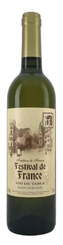 Вино Фестиваль де Франс столовое бел.п/сл. 0,7 л