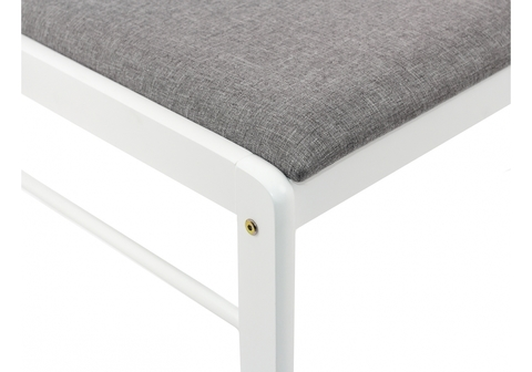 Стул деревянный кухонный, обеденный, для гостиной Camel white / light grey 40,5*40,5*84 Белый /Серый