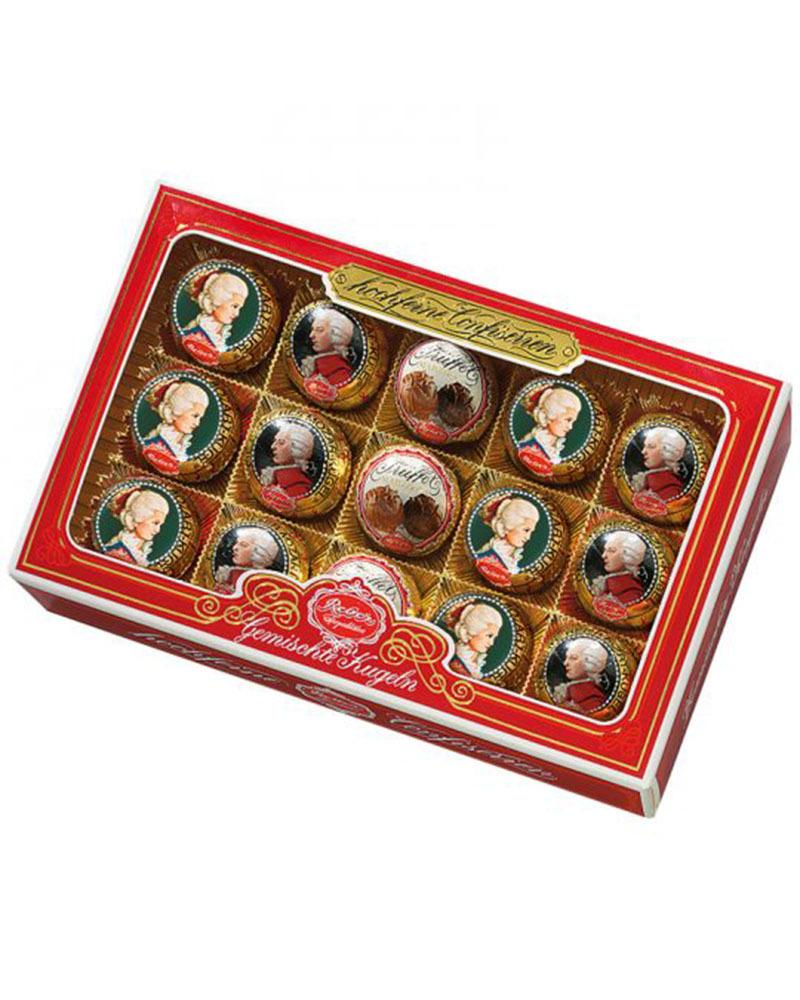 Шоколадные конфеты Reber в подарочной упаковке с окном, 300 гр.