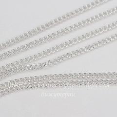 Цепь (цвет - серебро), звено 2,7х2 мм