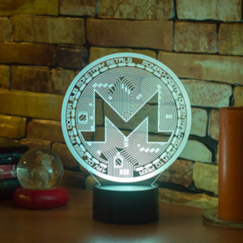 3D лампа Monero (Монеро)