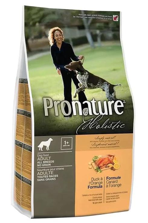 Сухой корм Беззерновой корм для взрослых собак, Pronature Holistic, с уткой и апельсином 2018-10-16_19-07-53.png