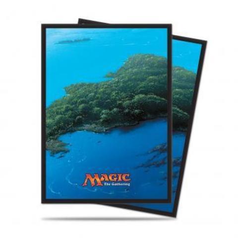Mana 5 Island Standard Deck Protector sleeves for Magic 80ct