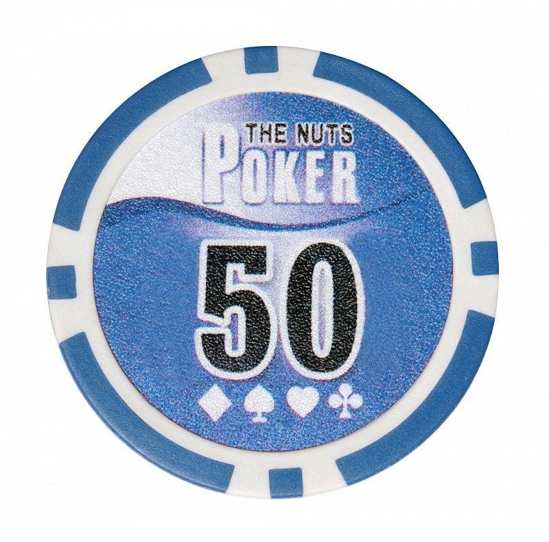 Набор для покера NUTS на 500 фишек фишка номиналом 50