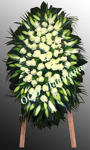 Венок из живых цветов элит ВЖ-31