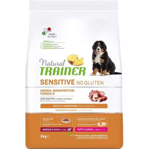 Natural Trainer Sensitive No Gluten Puppy&Junior Medium&Maxi - Duck для щенков средних и крупных пород