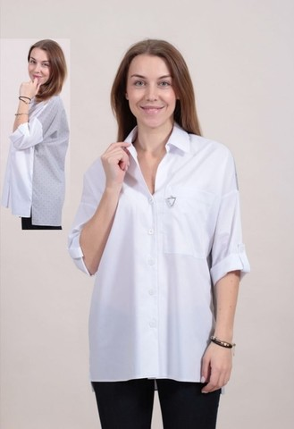 Блузка Kate 1797 рубашка комбинир 3/4 (В20)
