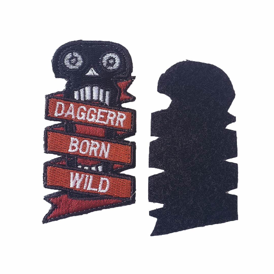 Chevron patch BORN WILD