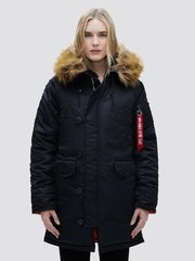Парка Alpha Industries N-3B W Black (Черная)
