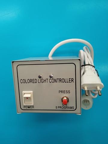 Контроллер для дюралайта 3-х жильный, диаметр 13мм, 8 режимов, IP23, Белый
