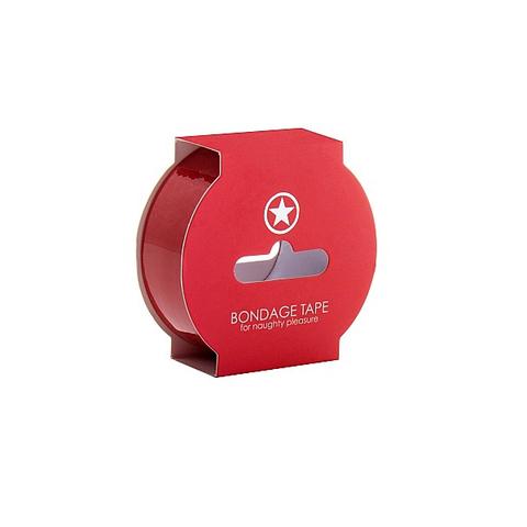 Shots Лента для связывания красная Non Sticky Bondage Tape Red