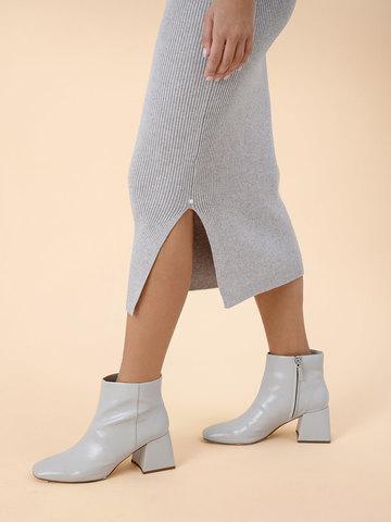 Женское платье песочного цвета из вискозы - фото 3