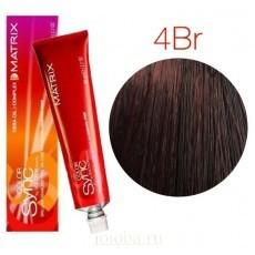 Matrix Color Sync: Brown Red 4BR шатен коричнево-красный, крем-краска без аммиака, 90мл