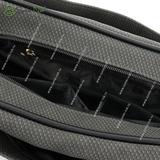 Сумка Саломея 323 флок серый + черный
