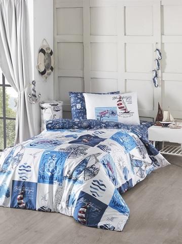 Комплект постельного белья DO&CO RANFORCE 1,5 спальный (Евро) SAIL