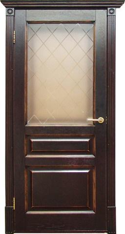 Дверь Халес Лондон (тоскана, остекленная, массив хвойных пород)