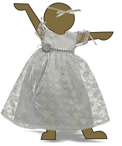 Белое платье - Демонстрационный образец. Одежда для кукол, пупсов и мягких игрушек.
