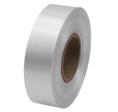 Лента полипропиленовая (размер: 30 мм х 100 м), цвет: серебро