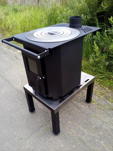Тумба для дровяной печки с печкой Smaga Fix