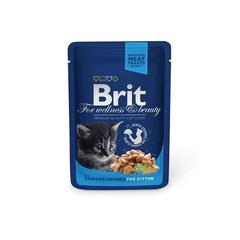 """Пауч для котят, Brit Premium, """"Курица"""""""