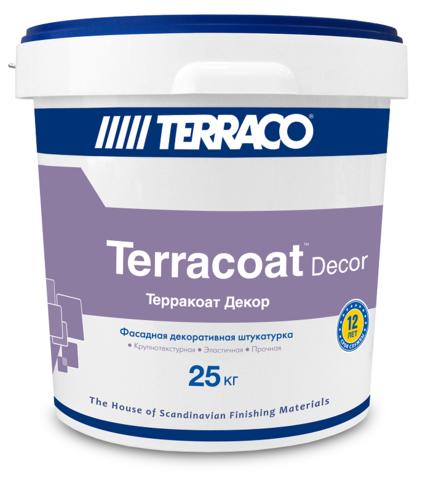 Terraco Terracoat Decor/Террако Терракоат Декор декоративное покрытие на акриловой основе с крупной текстурой типа «шагрень»