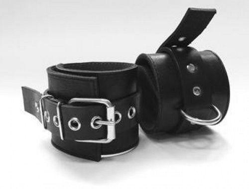 Чёрные подшитые наножники с кольцом
