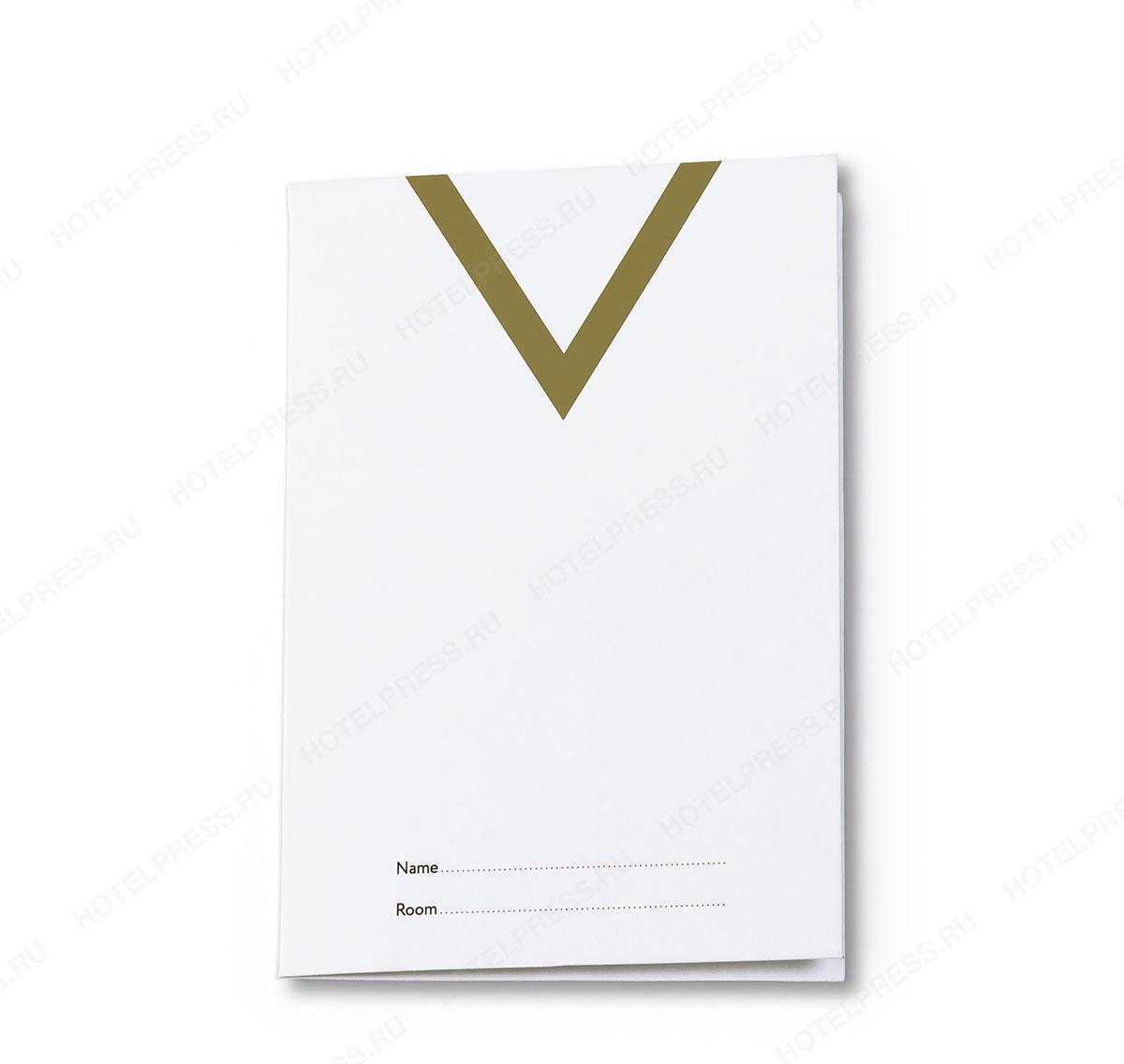 Кейхолдер-конверт для ключ карт отеля из мелованной бумаги.